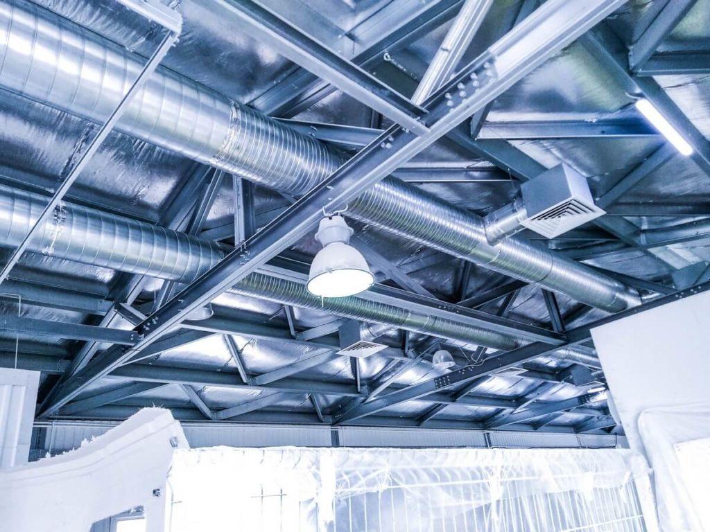 Монтаж вентиляции цеха обработки композитных материалов